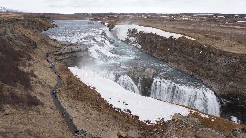 De watervallen van IJsland royalty-vrije stock afbeelding