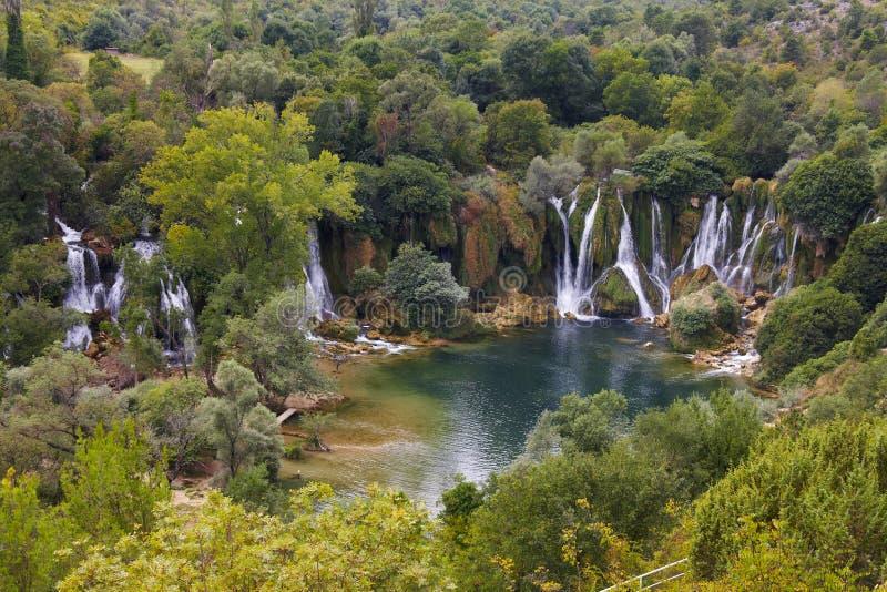 De watervallen van Kravica - bosnia-herzegovina royalty-vrije stock afbeeldingen