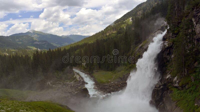 De watervallen van Krimml stock afbeeldingen