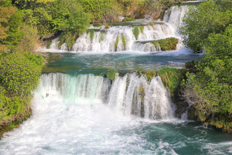 De watervallen van Krka royalty-vrije stock afbeelding