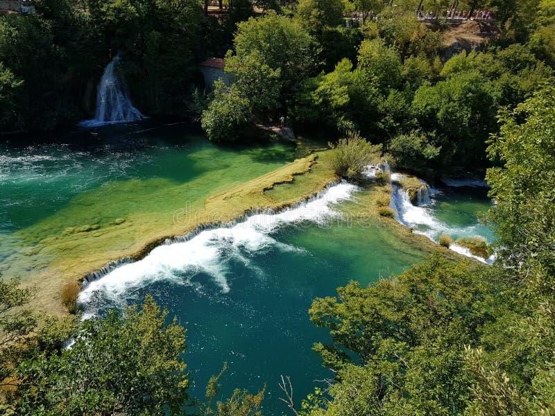 De watervallen van Kroatië Krka royalty-vrije stock afbeelding