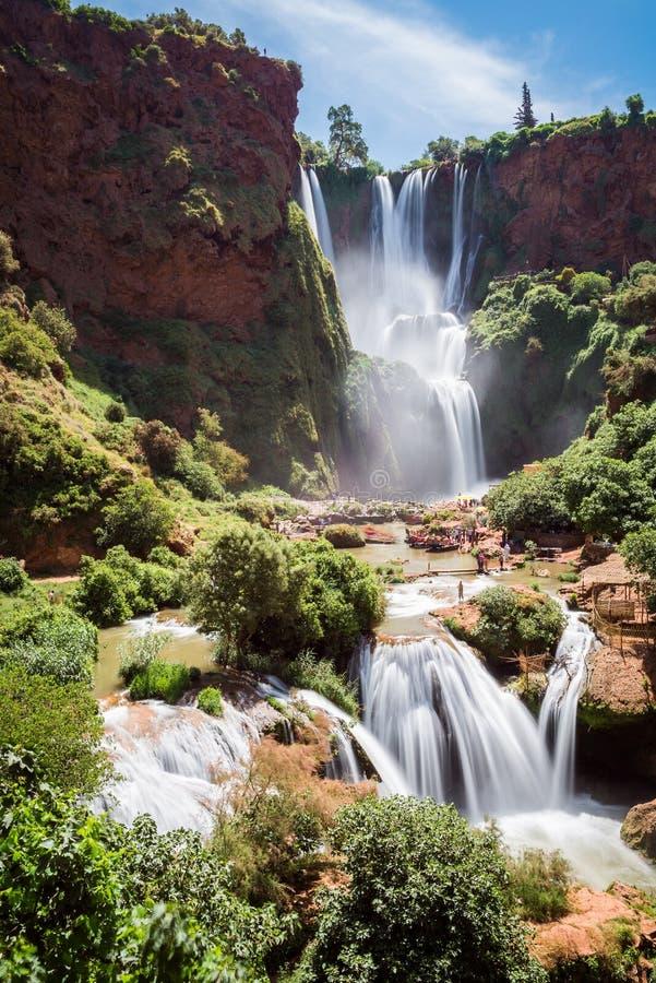 De Watervallen van Ouzoud, Marokko royalty-vrije stock foto
