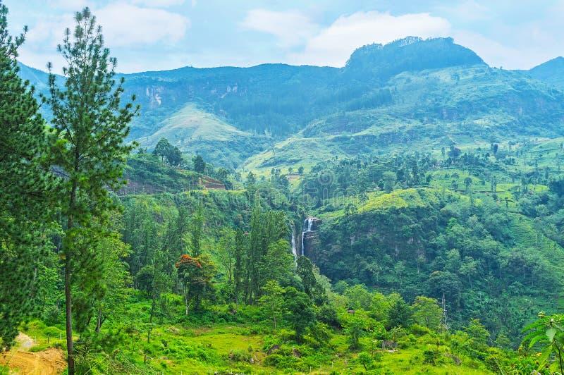 De watervallen van Sri Lanka royalty-vrije stock foto's
