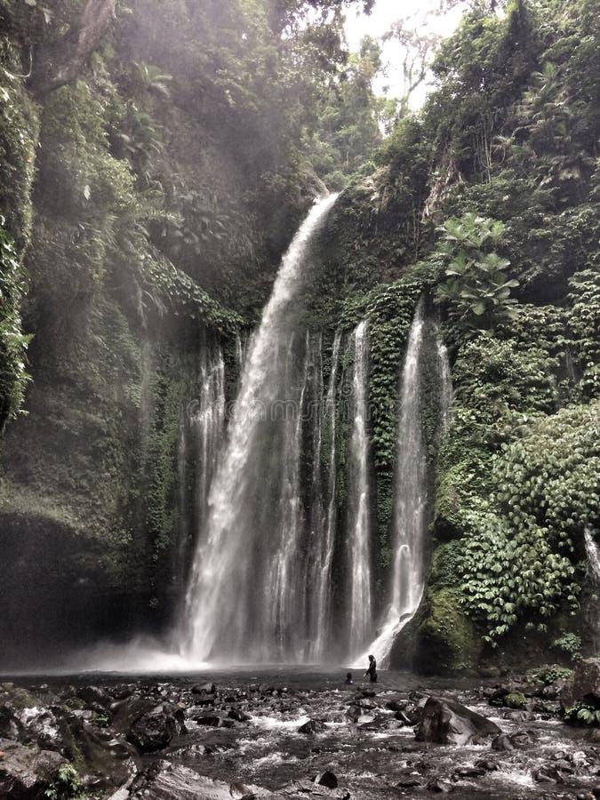 De Watervallen van Tiukelep royalty-vrije stock foto's