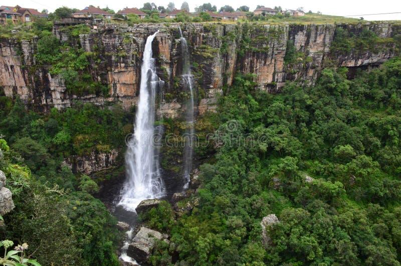 De watervalmpumalanga Zuid-Afrika van Lissabon stock afbeelding