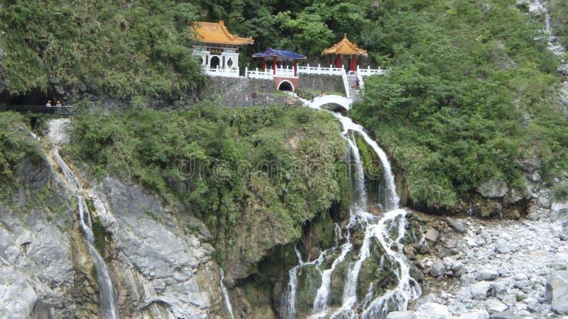 Download De Watervaltempel Van Taiwan Stock Foto - Afbeelding bestaande uit over, watervallen: 54086022