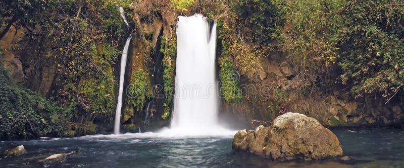 De watervalvijver van Banias royalty-vrije stock foto