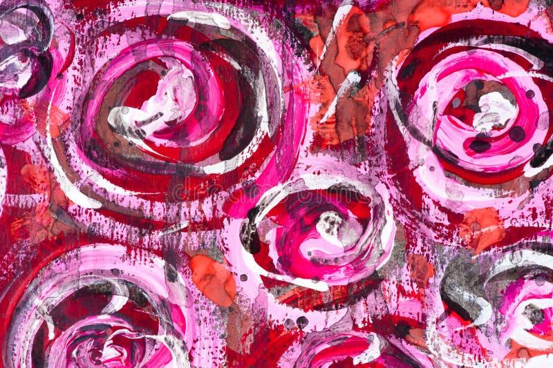 De waterverf schilderde bloemenachtergrond vector illustratie
