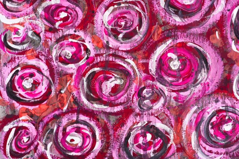 De waterverf schilderde bloemenachtergrond royalty-vrije illustratie