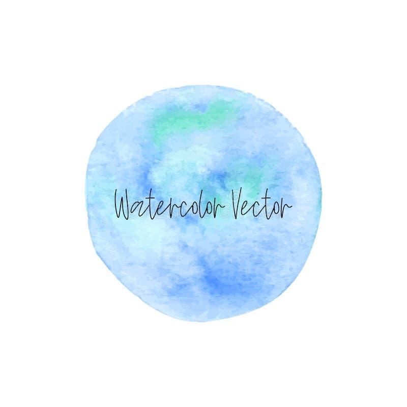De waterverfhand schilderde cirkelontwerp elementon een witte achtergrond, decoratief ontwerpelement vector illustratie