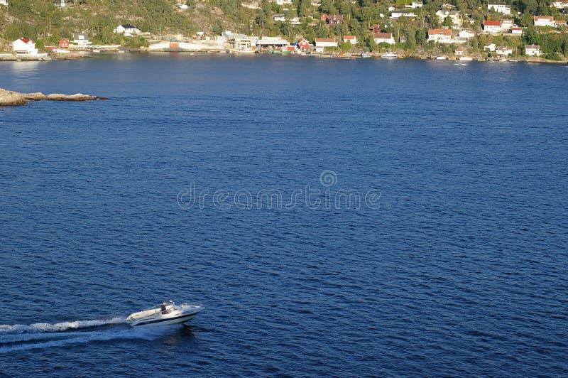 De waterweg van Oslofjord in Noorwegen royalty-vrije stock afbeeldingen