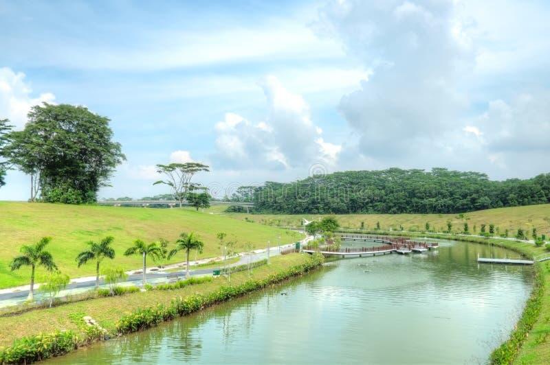 De Waterweg van Punggol, Singapore royalty-vrije stock fotografie