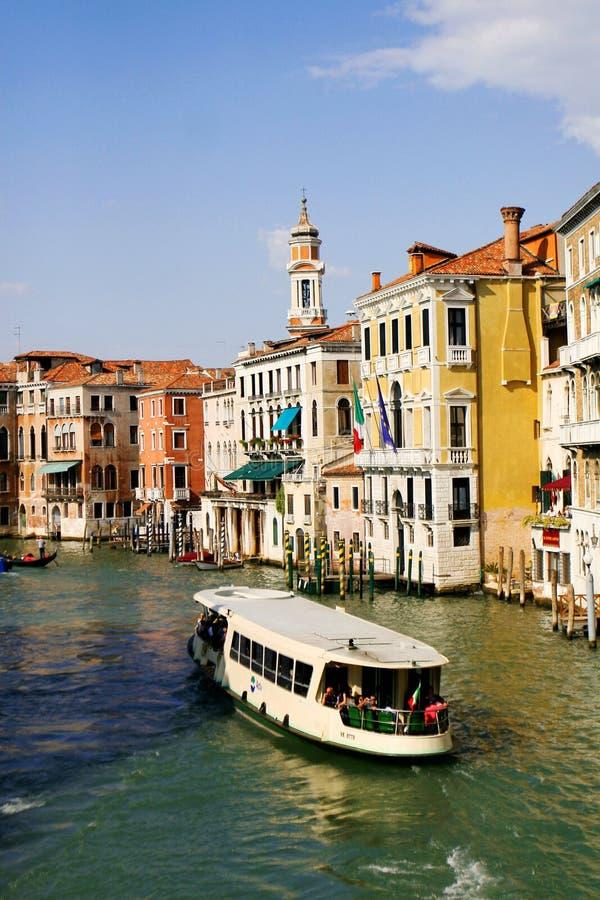 De waterweg van Venetië stock afbeelding