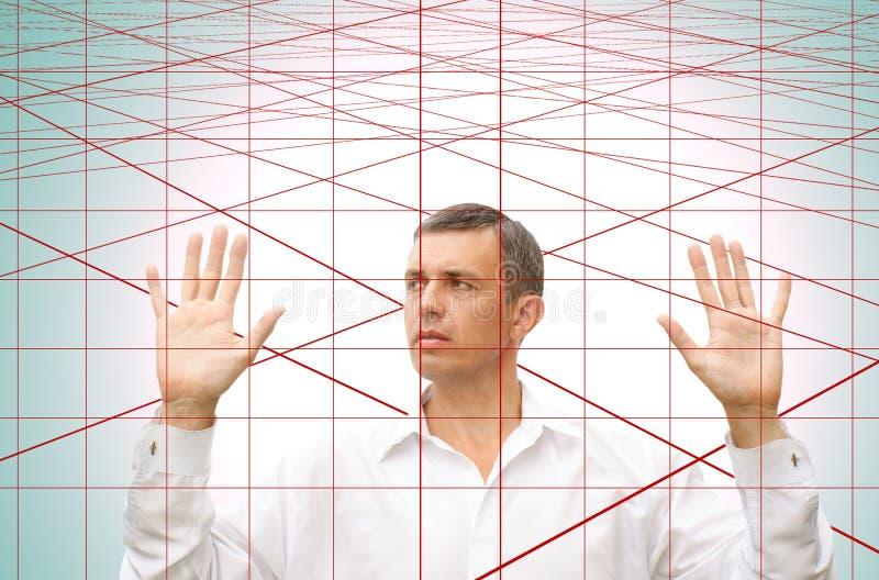 De Web-valstrik van de laser stock afbeelding
