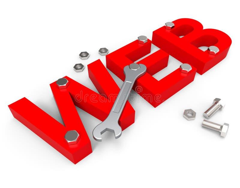 De Webhulpmiddelen toont Programma's Shareware en Netwerk stock illustratie