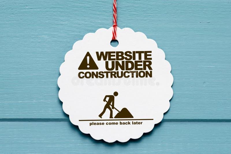 De website ondertekent in aanbouw stock illustratie