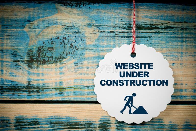 De website ondertekent in aanbouw royalty-vrije stock afbeelding