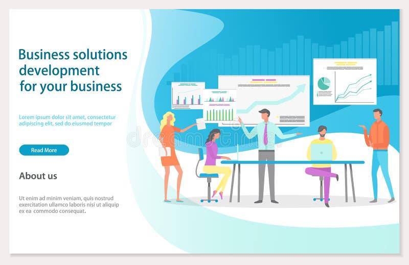 De Website van de bedrijfsoplossingsontwikkeling het Landen vector illustratie