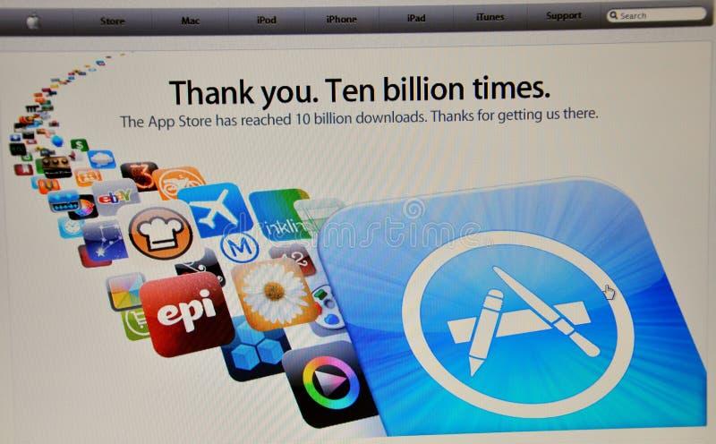 De website van de appel stock foto