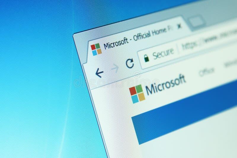 De website van Microsoft stock afbeeldingen