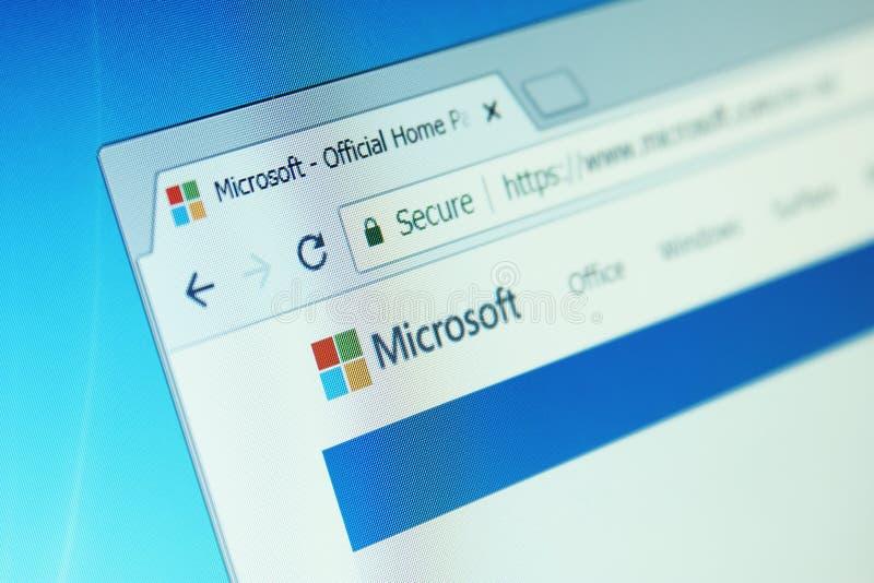 De website van Microsoft royalty-vrije stock foto's