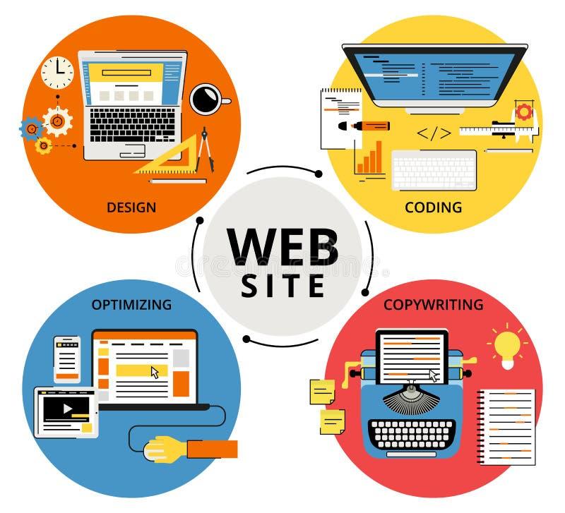 De websitebouw vector illustratie