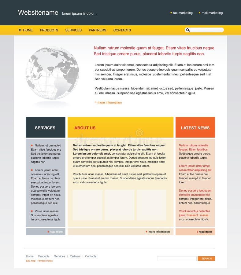 De websitemalplaatje van Editable stock illustratie