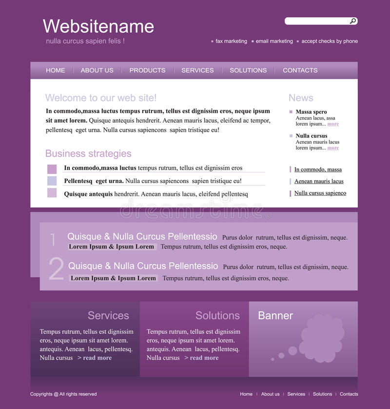 De websitemalplaatje van Editable vector illustratie