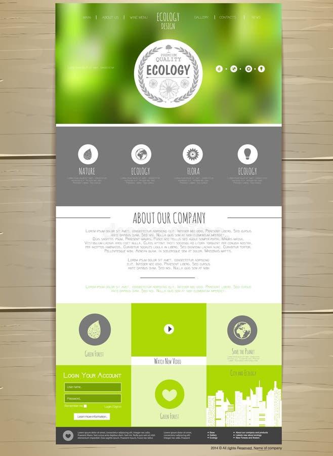 De Websiteontwerp van het ecologieconcept vector illustratie