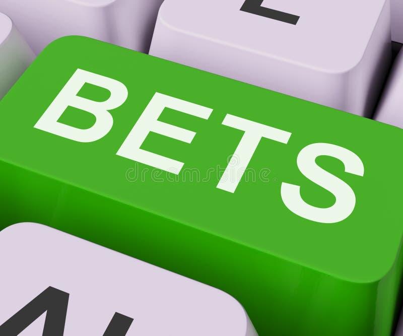 De weddenschappensleutel toont online of Internet-het Gokken vector illustratie