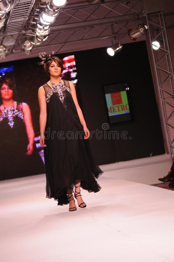 De Week 2011 van de Manier van Islamabad royalty-vrije stock afbeeldingen