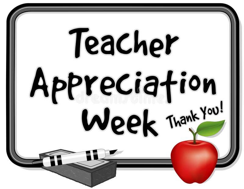 De Week van de Appreciatie van de leraar, Whiteboard stock illustratie