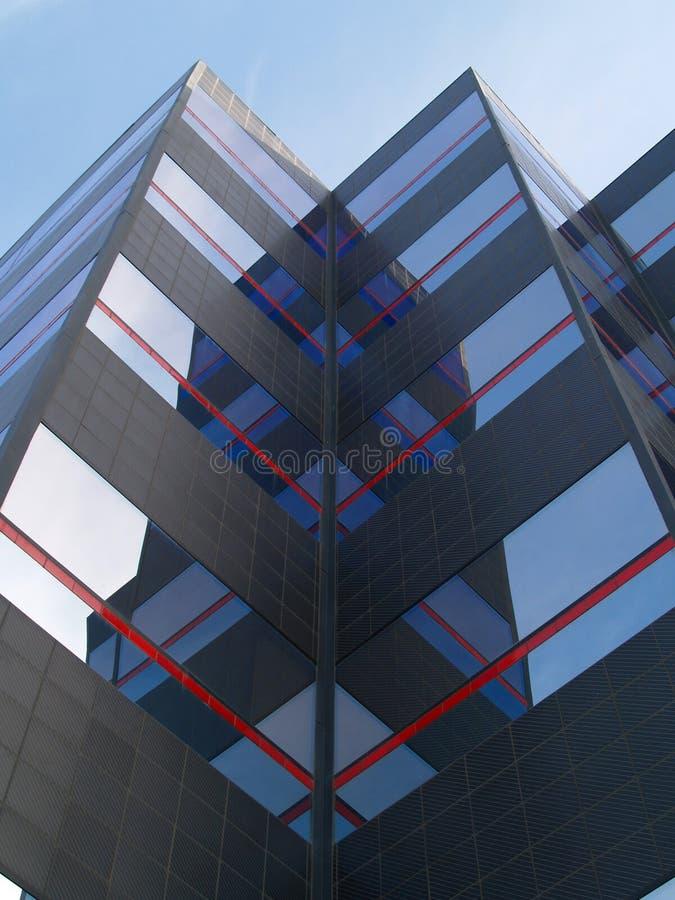 De weerspiegelde Glas Moderne Bouw stock afbeeldingen