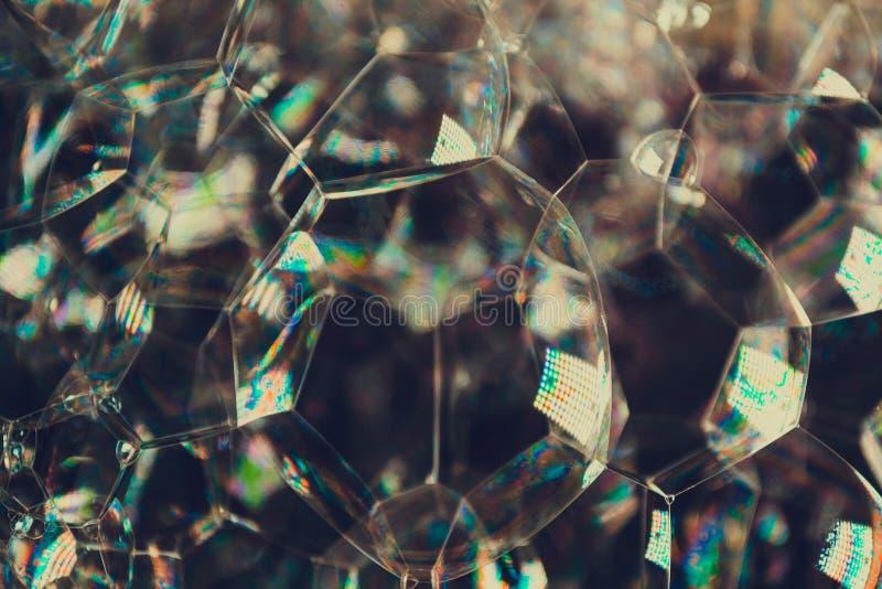De weerspiegeling van licht in spiegeloppervlakten leidt tot een mooie achtergrond royalty-vrije stock afbeeldingen