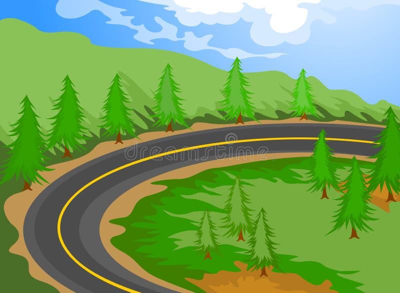 De weg royalty-vrije illustratie
