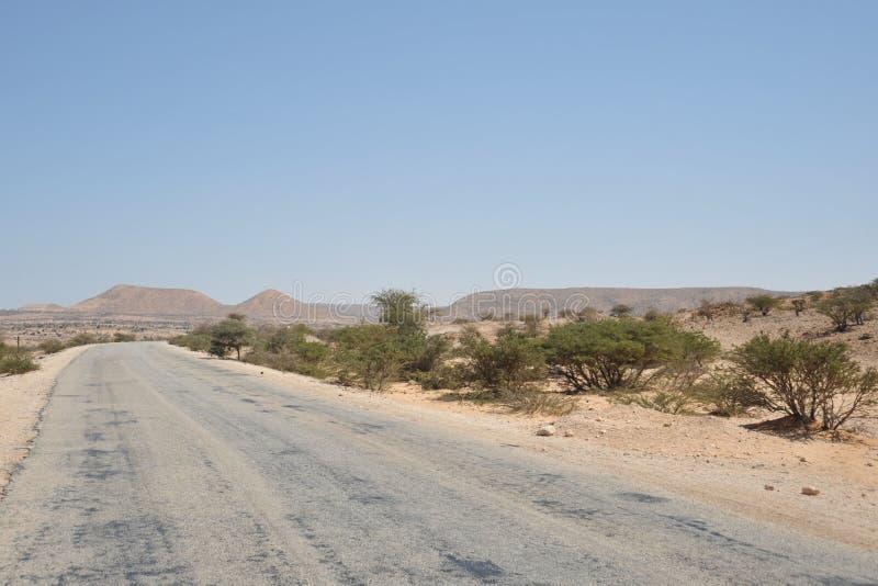 De weg aan Berbera royalty-vrije stock foto's