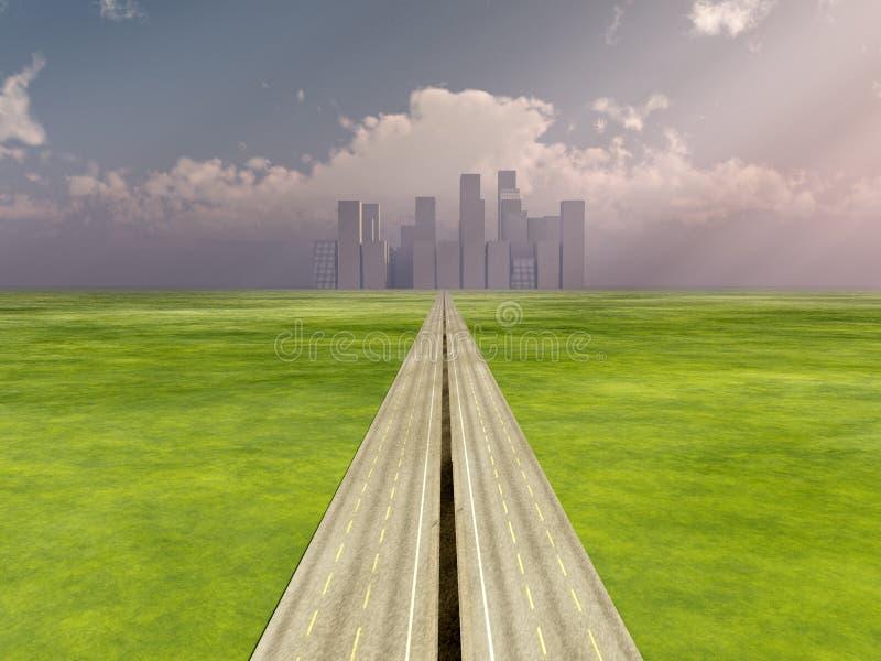 De weg aan de Stad stock illustratie