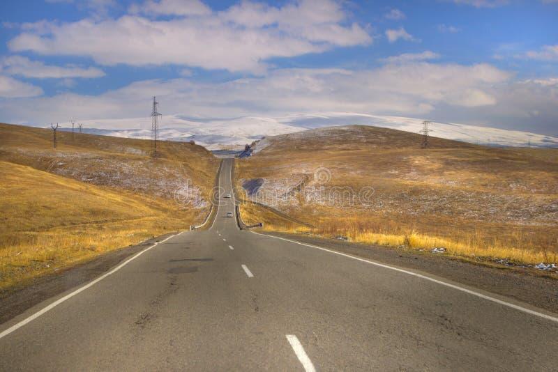 De weg aan Syunik, Armenië royalty-vrije stock fotografie