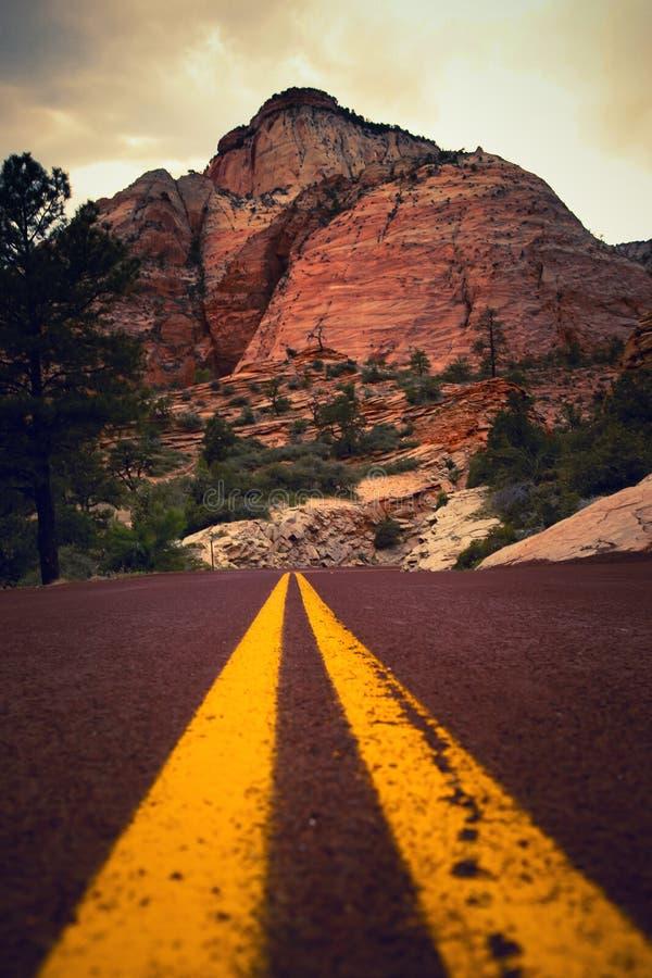 De weg aan Zion royalty-vrije stock afbeeldingen