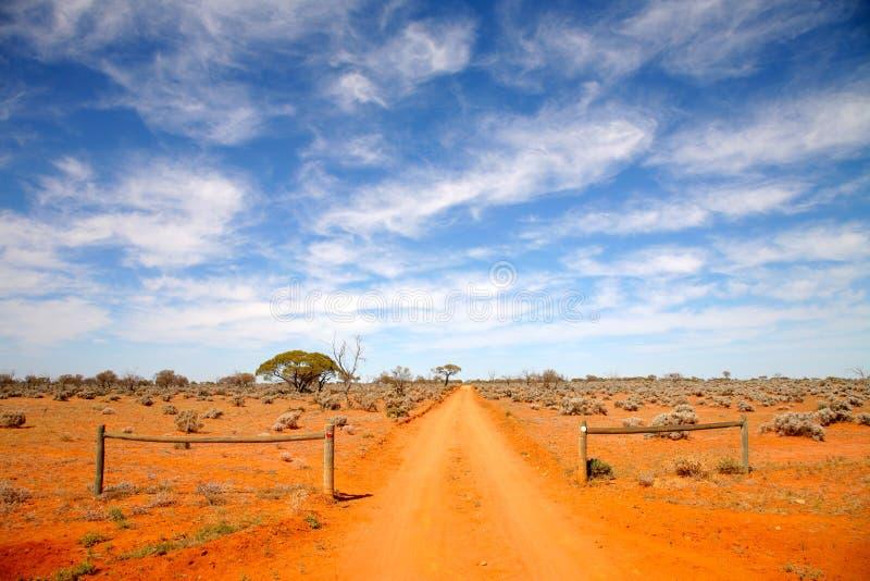 De weg Australië van het binnenland stock afbeelding