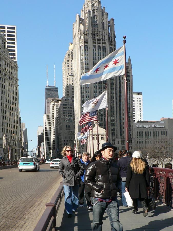 DE WEG CHICAGO VAN MICHIGAN stock foto's