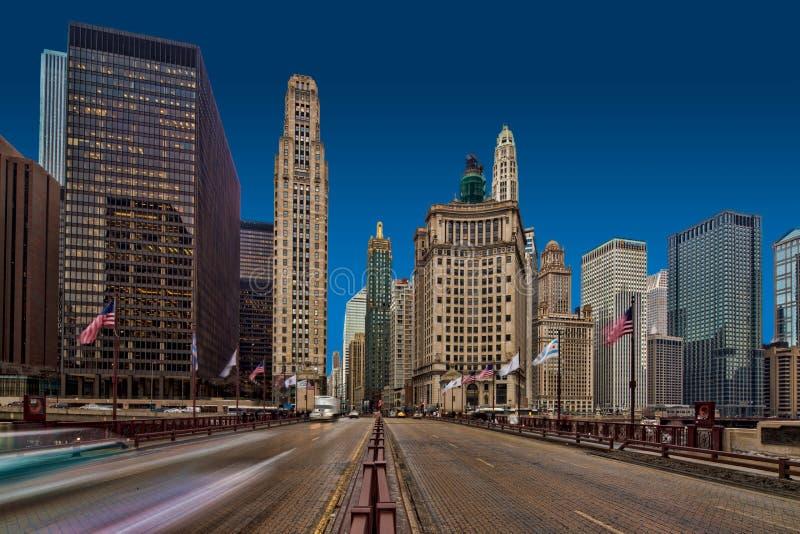 DE WEG CHICAGO VAN MICHIGAN royalty-vrije stock afbeelding
