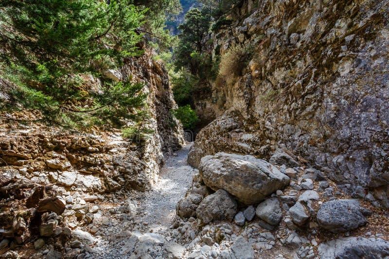 De weg in de kloof van Imbros royalty-vrije stock foto