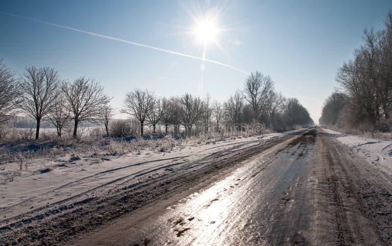 De weg in ijs royalty-vrije stock foto
