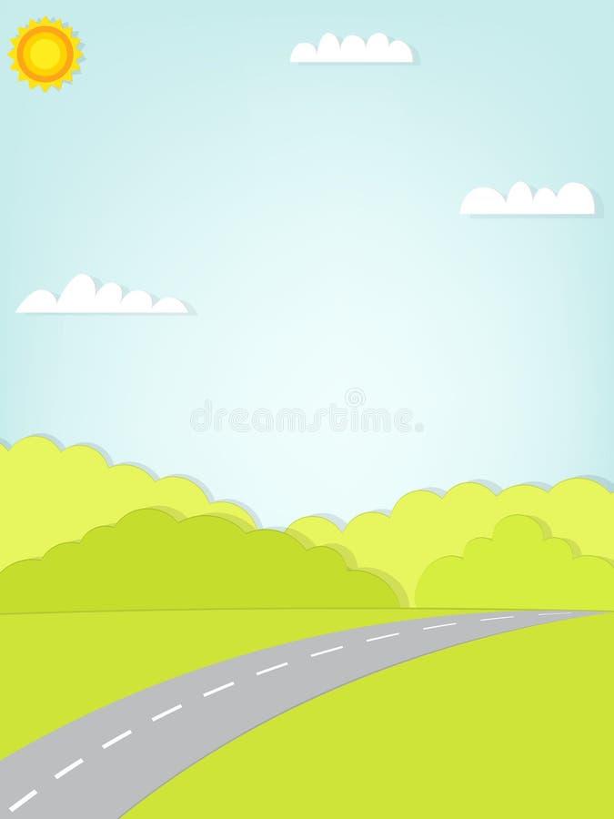 De weg leidt tot het bos vector illustratie