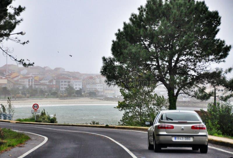 De weg in Porto doet Zoon Galicië spanje royalty-vrije stock afbeeldingen