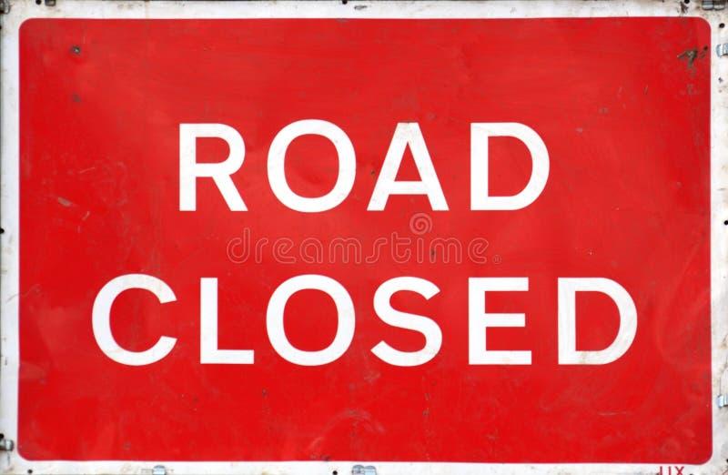 De weg sloot Teken stock fotografie