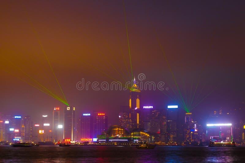 De weg speelt Laser mee toont royalty-vrije stock foto