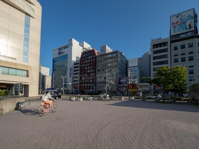 De weg van Aioidori, Hiroshima stock foto