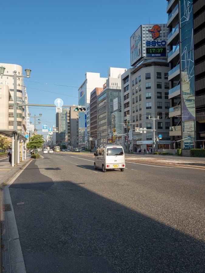 De weg van Aioidori, Hiroshima stock foto's